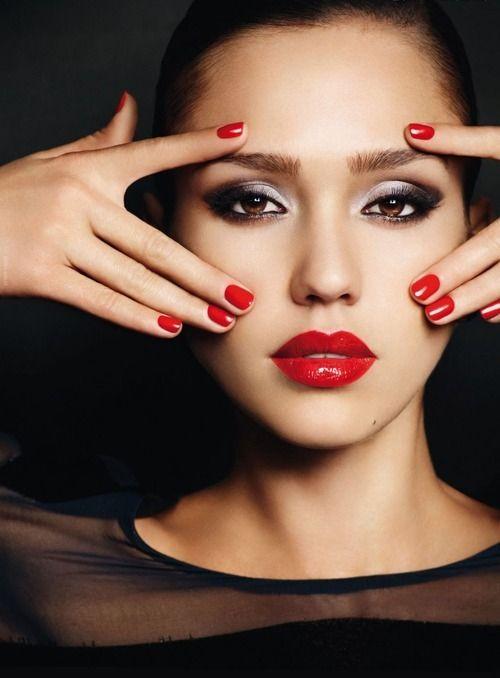 Jessica Alba, red lips, red lipstick, sexy, actress, model, top model, hollywood, fashion, make up, Dresslikeabitch.com, dress like a bitch