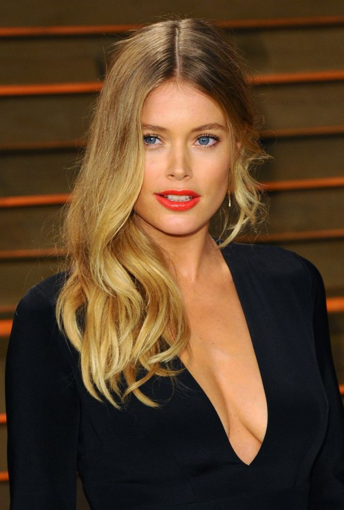 Doutzen Kroes, red lips, red lipstick, sexy, actress, model, top model, hollywood, fashion, make up, Dresslikeabitch.com, dress like a bitch