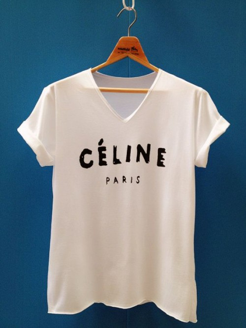 Céline Tee Shirt, blogger, White T-shirt, tshirt, tee shirt, actress, model, singer, hot, celebrity