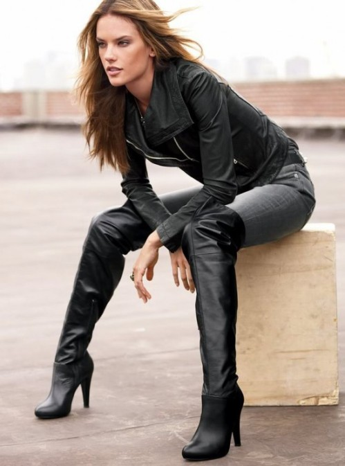Alessandra Ambrosio. High Boots