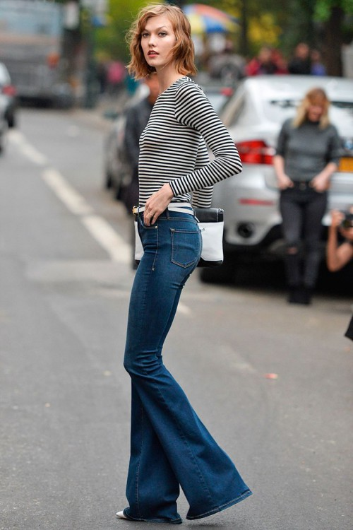 Flared Jeans for Fall, Karlie Kloss, NYC Campaign, New York City, model, fashion