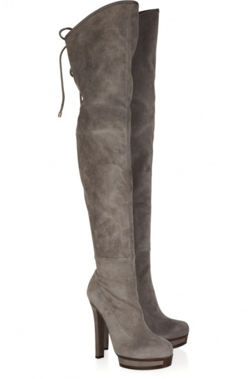 Boots: Gucci, Stretch-suede over-the-knee boots