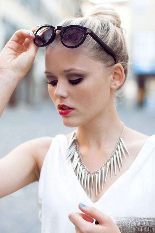 H&M HEELS : Bally, NECKLACE : www.jfr.se, CLUTCH : Vintage, GLASSES : Mango, red lips, red lipstick, sexy, actress, model, top model, hollywood, fashion, make up, Dresslikeabitch.com, dress like a bitch