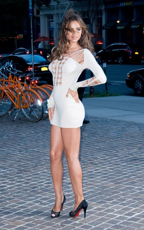 Irina Shayk, Dress, Legs, High Hills, Shoes, Woman, Model, Celebrity, Actress, Hollywood