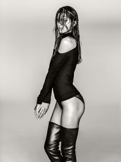 Kendall Jenner. High Boots. Photographed by Russell James