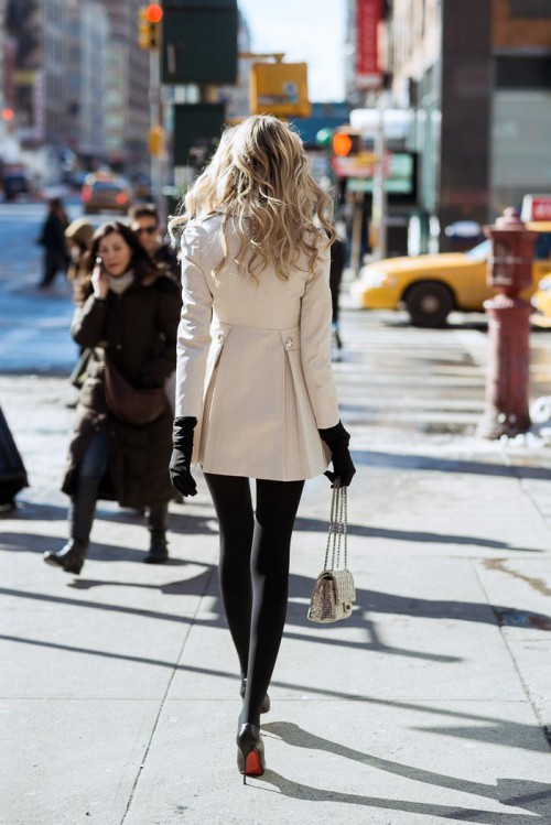 1. Trench Coat: Romwe 2. Black Tights: Target  4. Bag: Chanel 5. Heels: Christian Louboutin 6. Scarf: Burberry, model, New York City, fashion, style