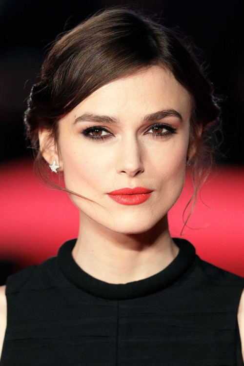 Keira Knightley, red lips, red lipstick, sexy, actress, model, top model, hollywood, fashion, make up, Dresslikeabitch.com, dress like a bitch